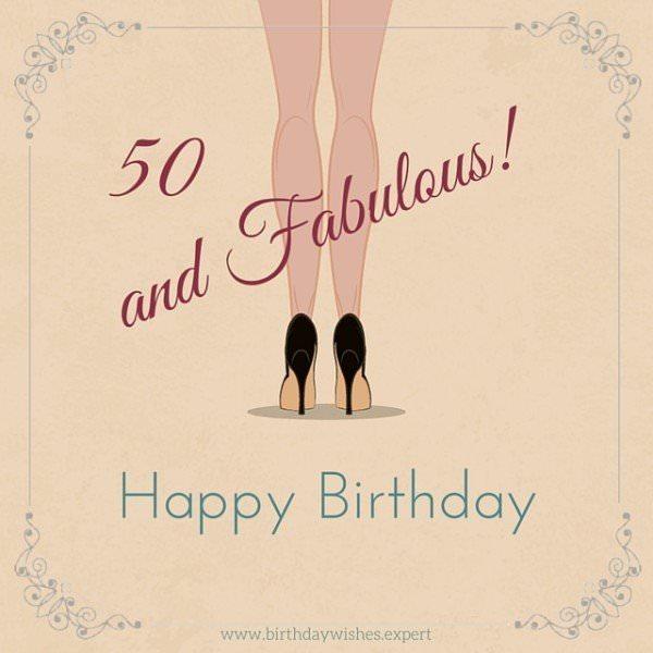 50 & fabulous.  Happy Birthday.