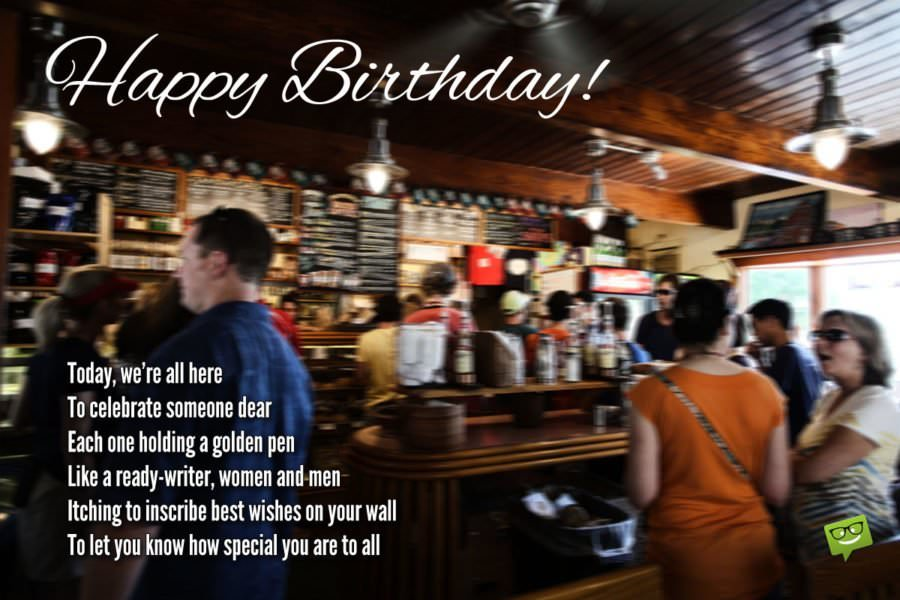 Birthday Poem for Facebook Friends