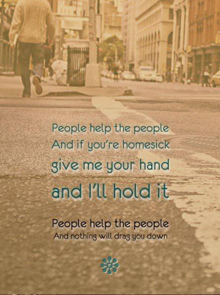 """Birdie - """"People help the people"""""""