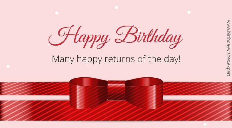 Happy Birthday.  Many happy returns of the day!
