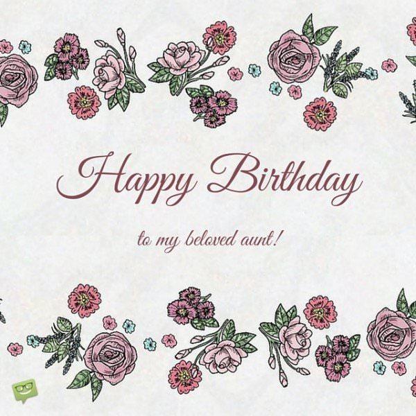 Happy Birthday to my beloved aunt!