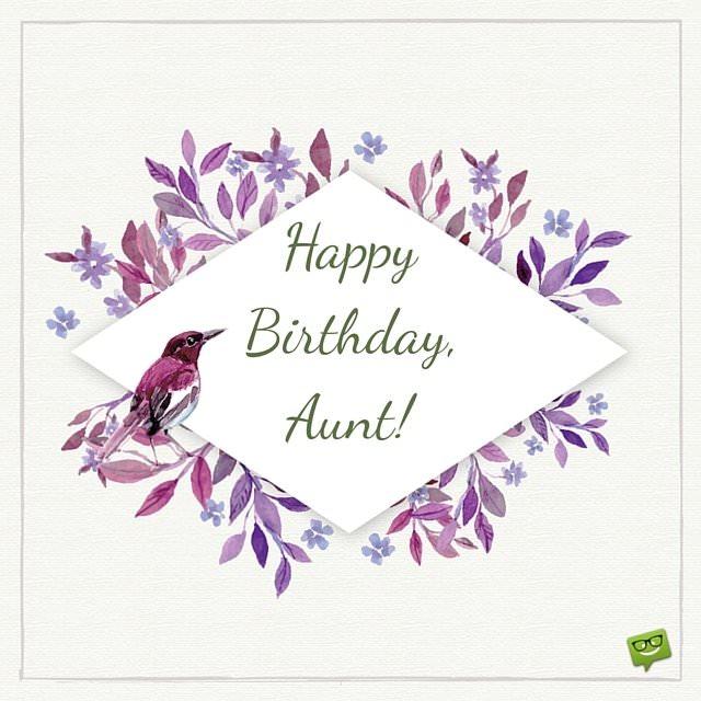 Happy Birthday, Aunt.