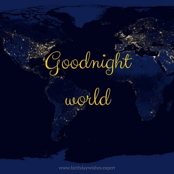 Good night, world.