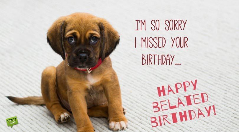 I'm so sorry I missed your birthday... Happy belated birthday!