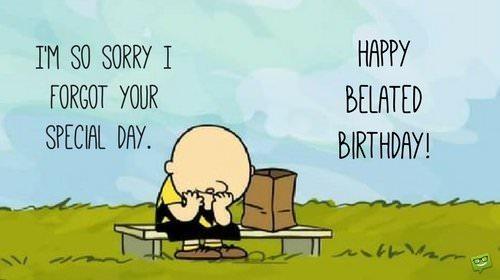 Afbeeldingsresultaat voor Belated birthday
