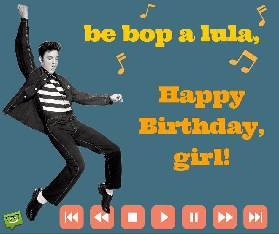 Happy Birthday image with Elvis.