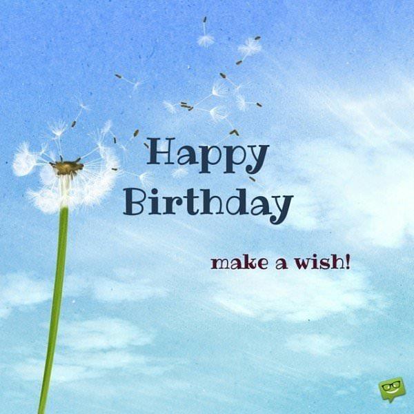 Happy Birthday, make a wish!