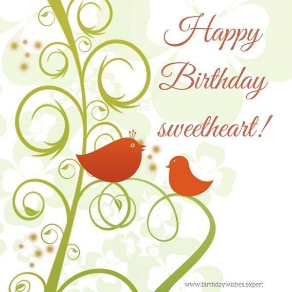 Happy Birthday sweetheart!