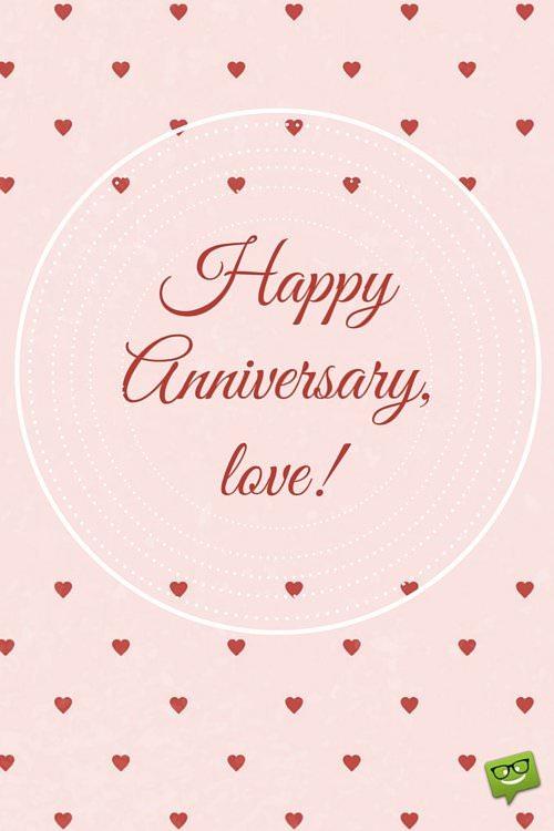 Happy Anniversary, love!