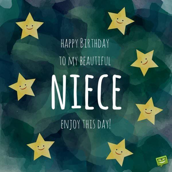 Happy Birthday to my beautiful niece.