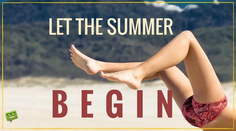 Hello, Summer! | Sunny Beach Quotes
