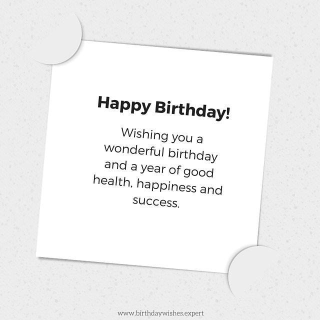 Following Protocol Formal Birthday Wishes – Happy Birthday Greeting Text