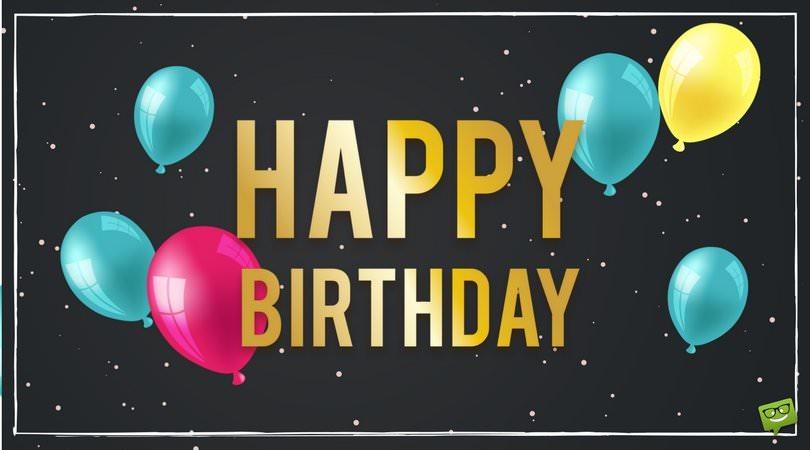 Happy Birthday.
