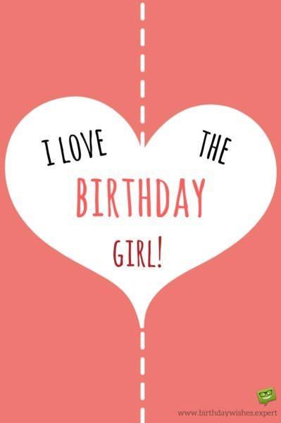 I love the Birthday Girl!