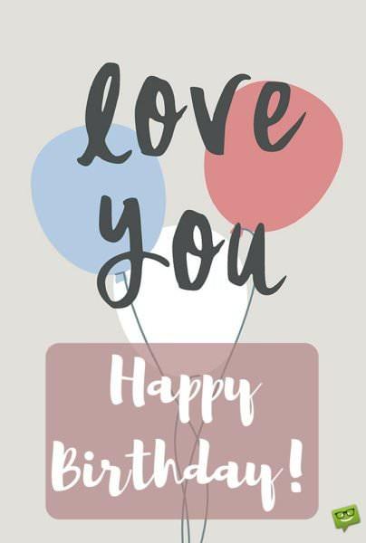 Happy Birthday! Love you.