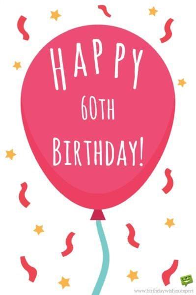 Happy 60th Birthday!