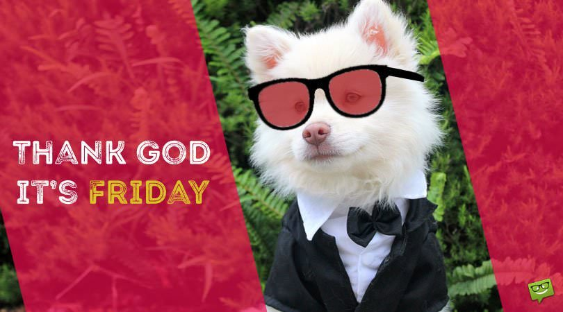Thanks God it's Friday!
