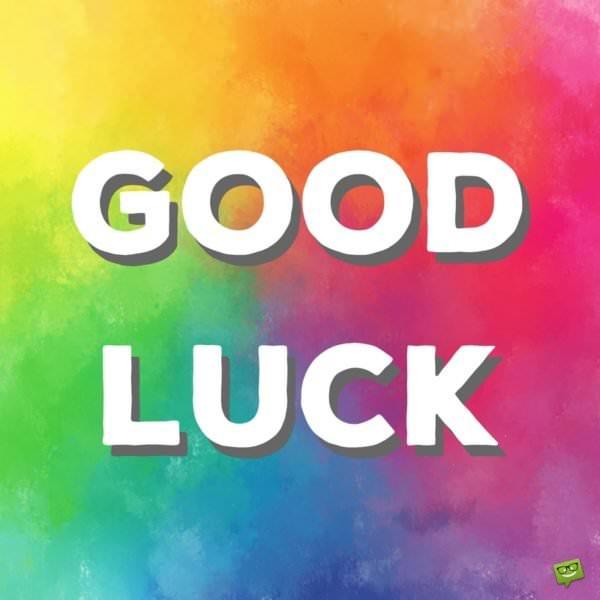 Good Luck.